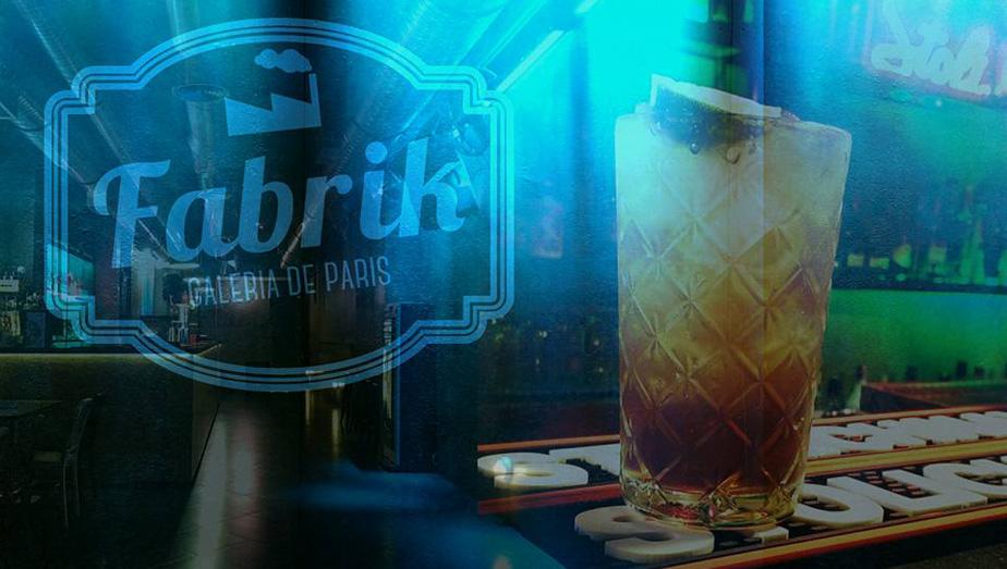 Bar Fabrik   Opening time:Tuesday to Saturday 6pm-4am.  Address:Rua Galeria de Paris, 109  Facebook: www.facebook.com/fabrikbar/