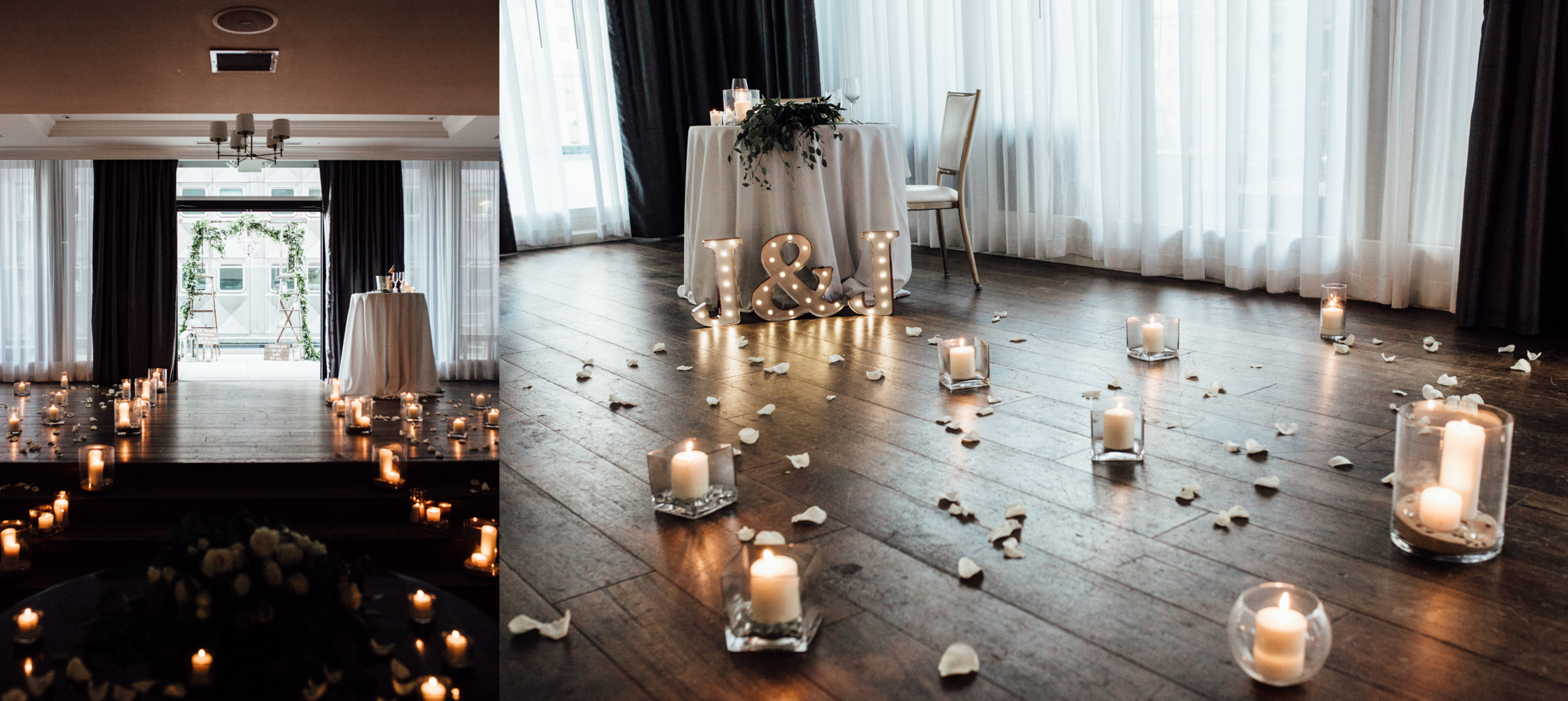 Romantic Rooftop Wedding Proposal Planners Hotel Monaco Pittsburgh | Exhale Events |