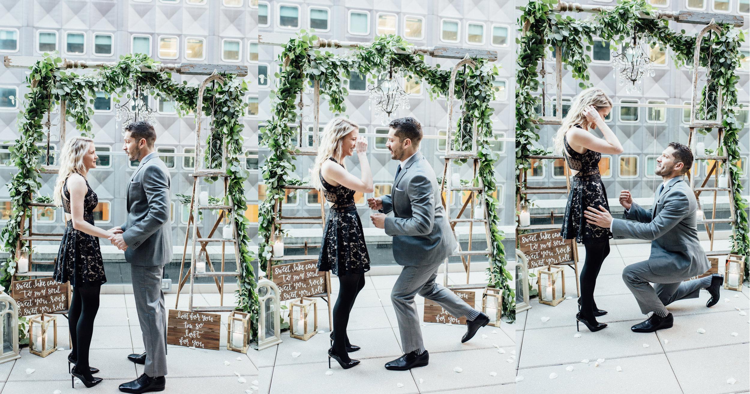 Hotel Monaco Pittsburgh | Wedding Proposal Planners | Exhale Events | Bent Knee Rooftop