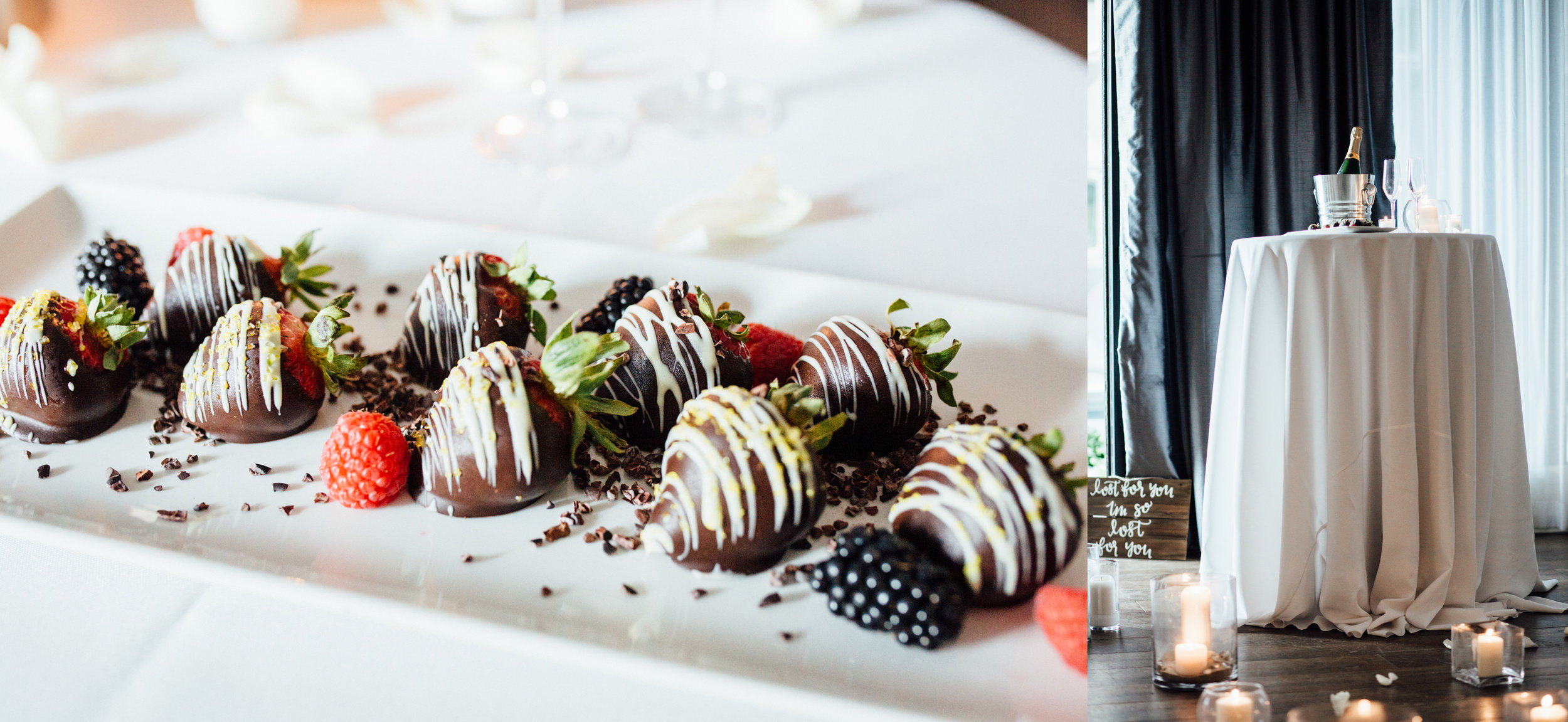 Chocolate covered strawberries | Wedding Proposal Pittsburgh | Exhale Events and Wedding Planners |