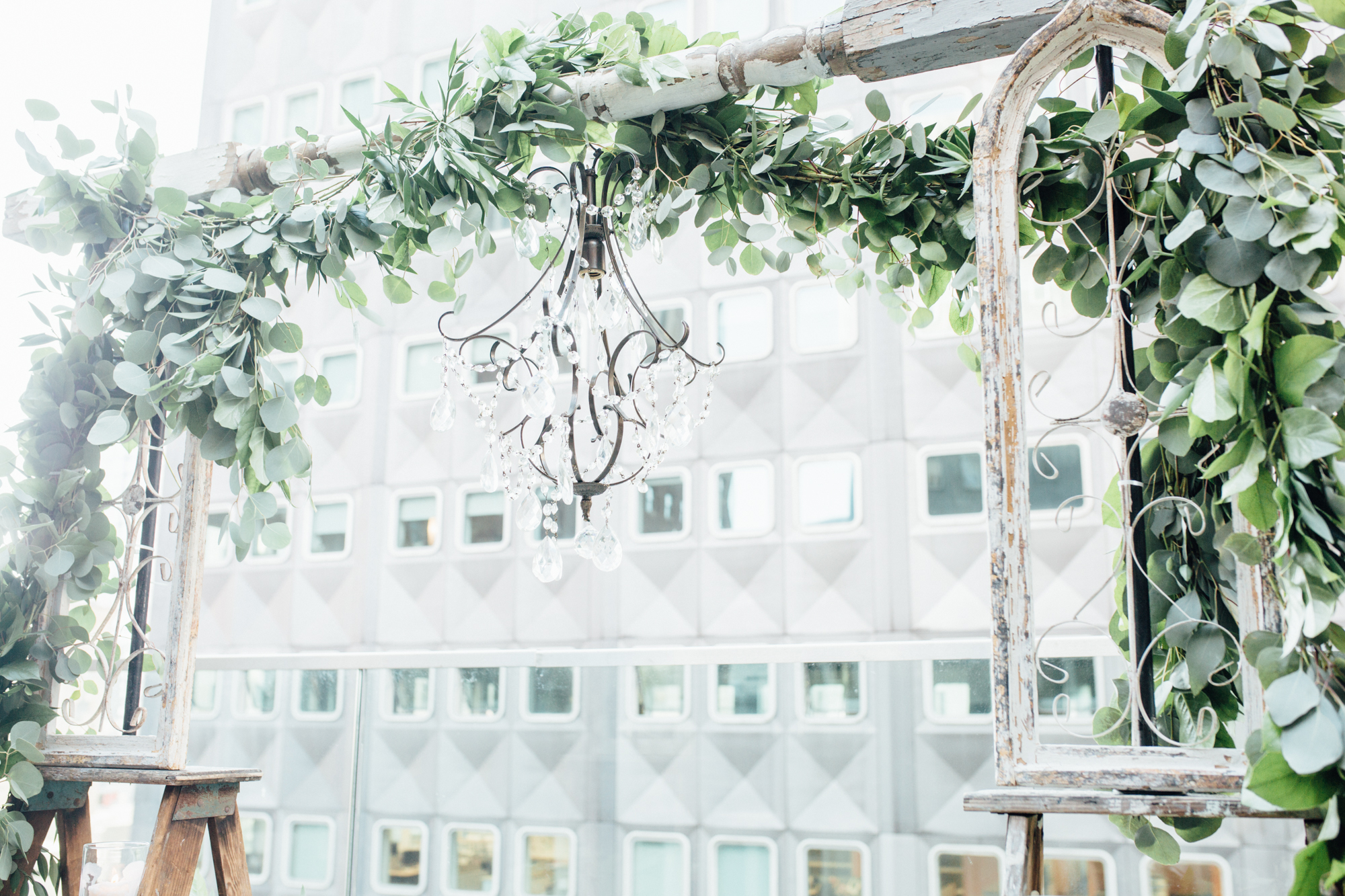 Romantic Rooftop Proposal Chandelier | Hotel Monaco | Exhale Events Pittsburgh PA