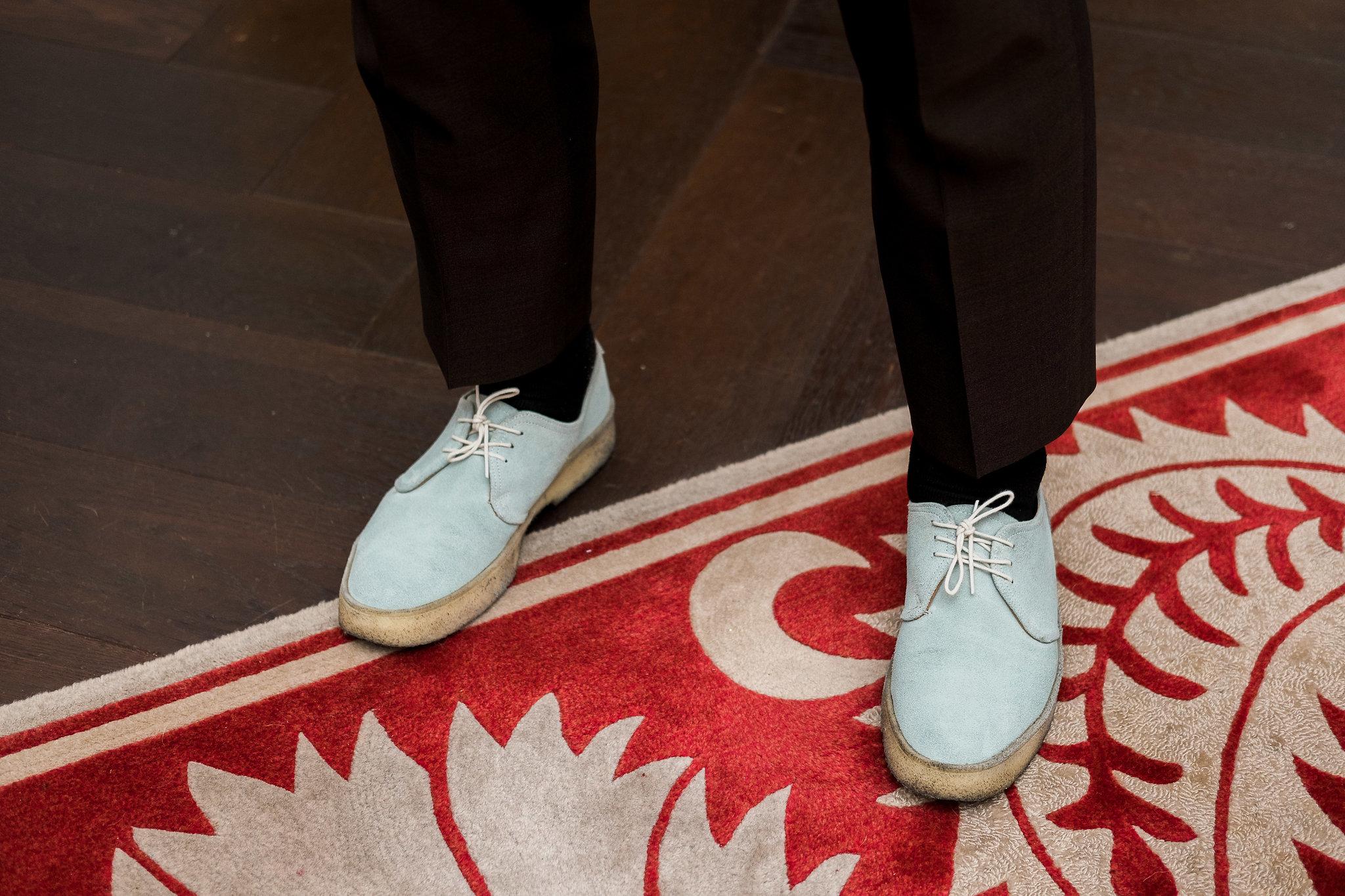 Groom's stylish wedding shoes