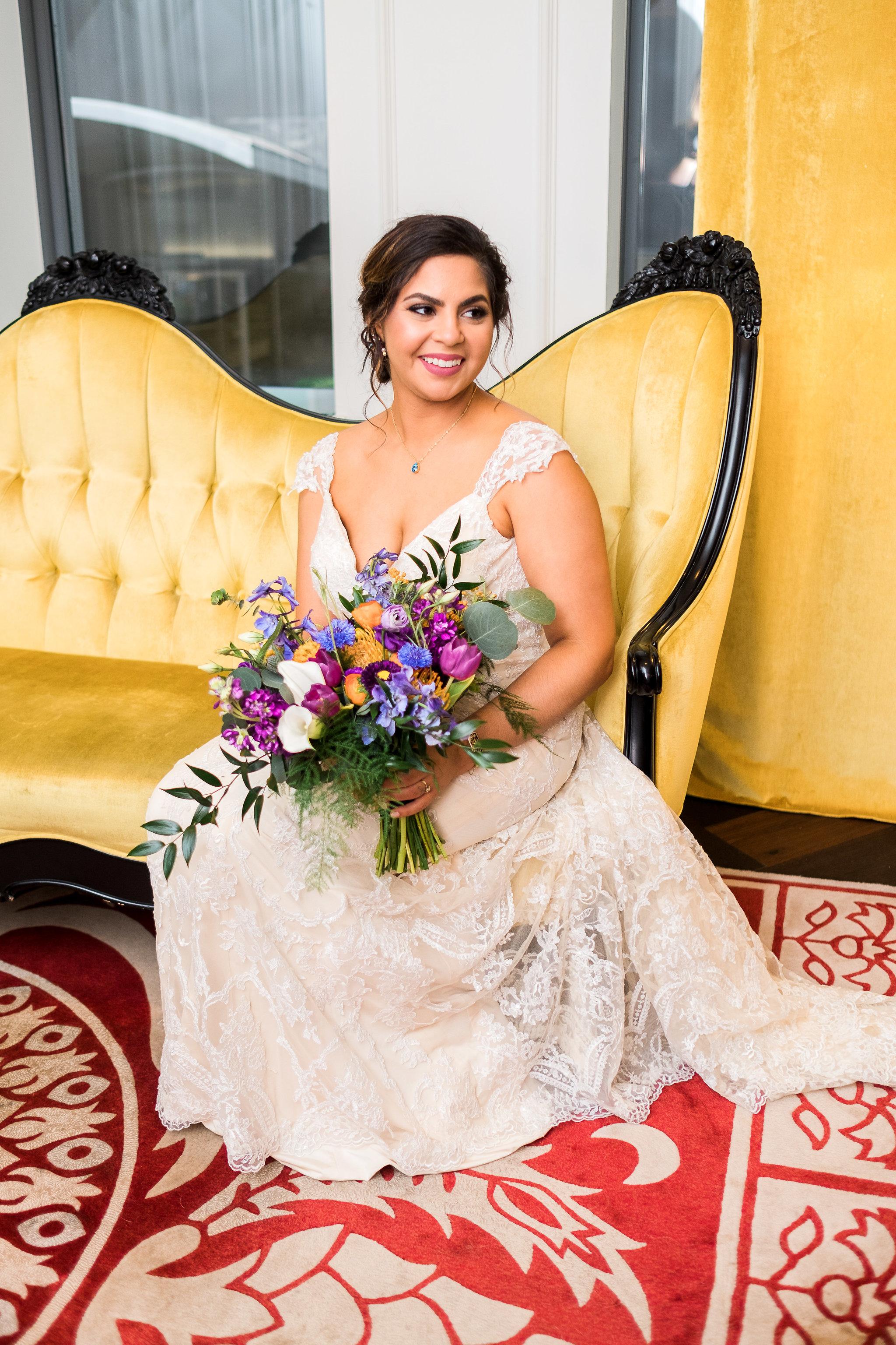 Bridal pictures at Hotel Monaco