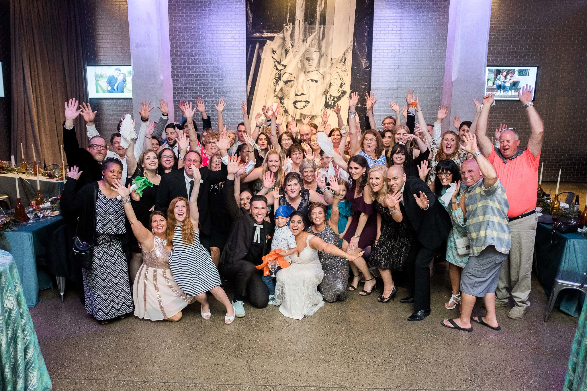 Fun family picture at Pittsburgh wedding