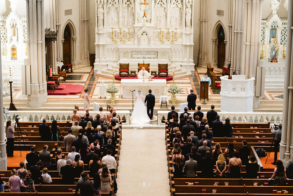 Pittsburgh wedding ceremony at church