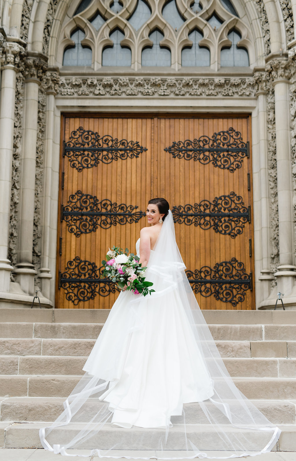 Wedding dress from Kleinfeld's bridal for Pittsburgh wedding