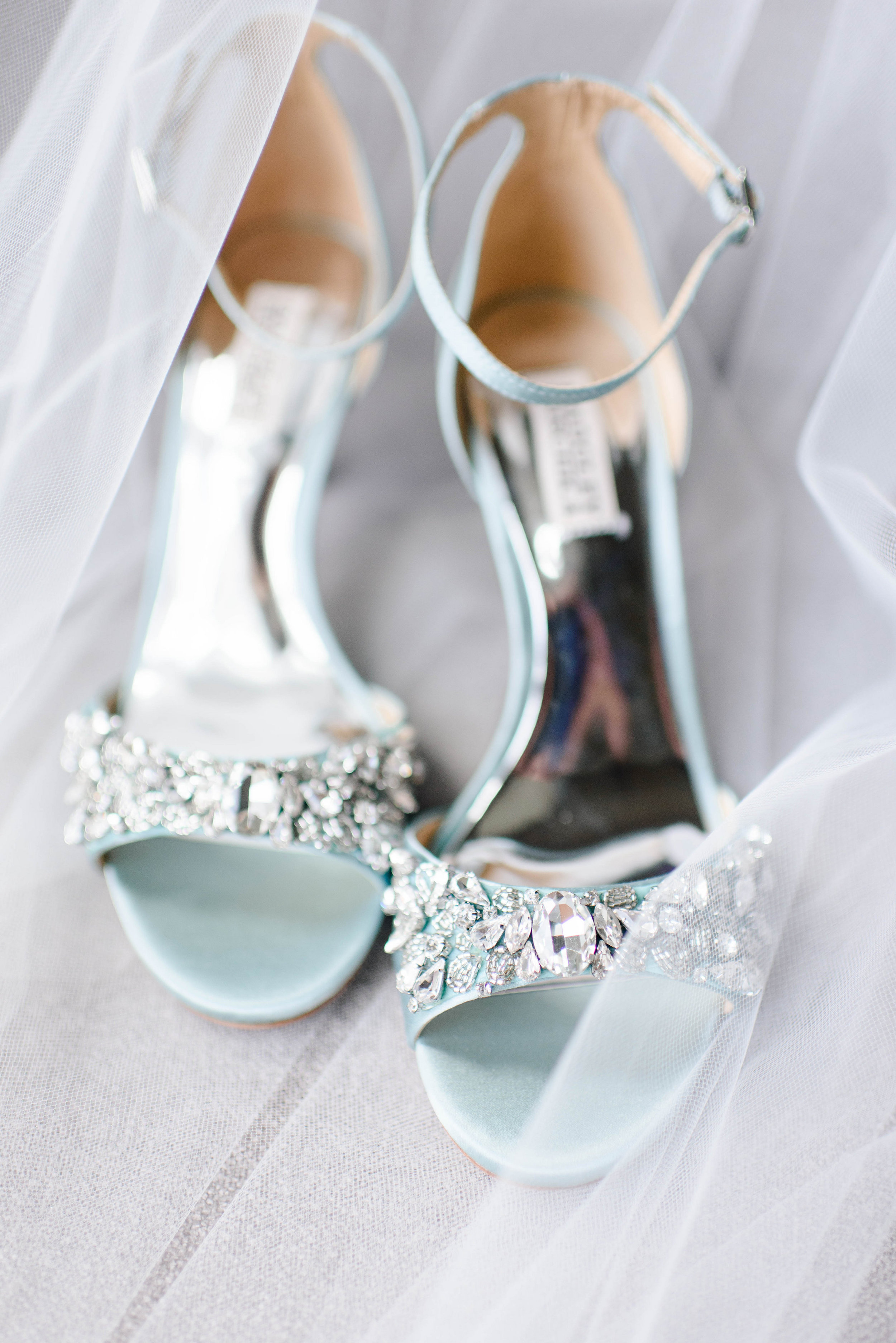 Bride's wedding shoes for Greek wedding held in Pittsburgh at Oakmont Country Club. See more details at exhale-events.com!