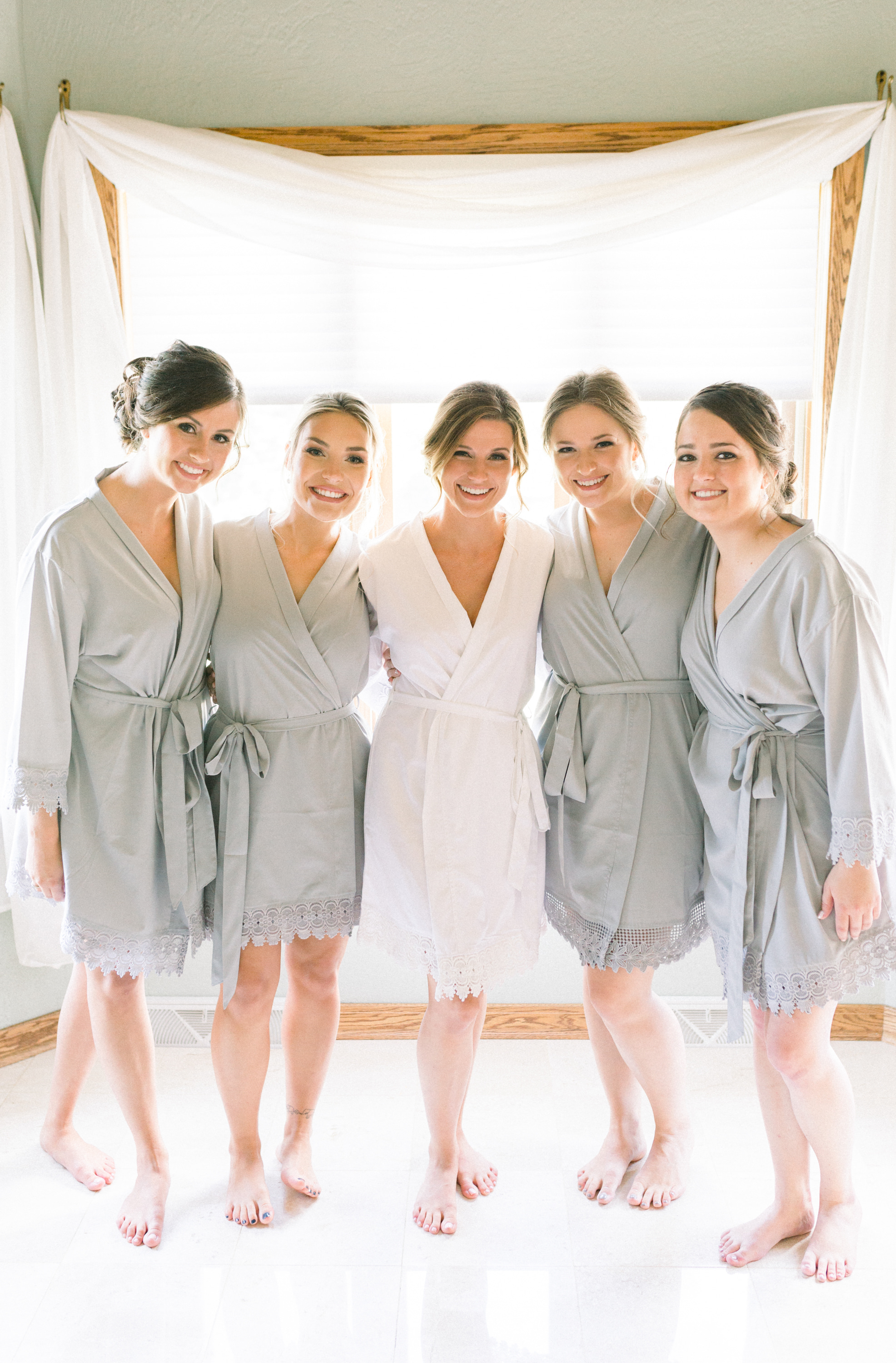 Bride and bridesmaids getting ready for Pittsburgh wedding planned by Exhale Events. Find more wedding inspiration at exhale-events.com!