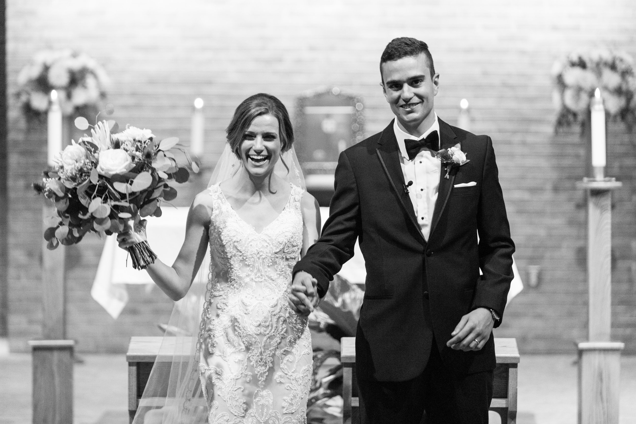Bride and groom's Pittsburgh wedding ceremony planned by Exhale Events. Find more wedding inspiration at exhale-events.com!