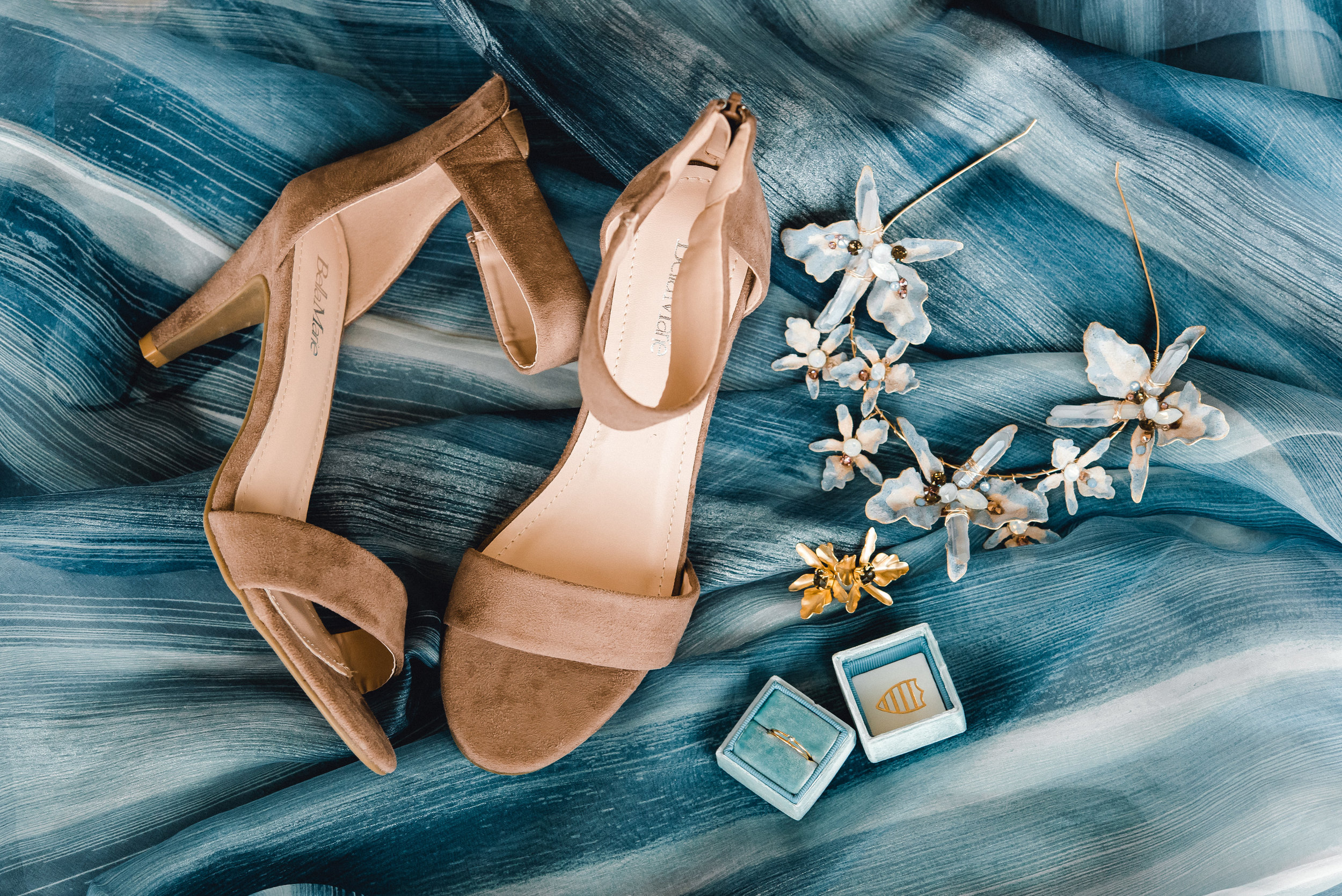 Wedding shoes and bridal accessories for Pablo Neruda enchanting garden styled shoot planned by Exhale Events. Get inspired at exhale-events.com!