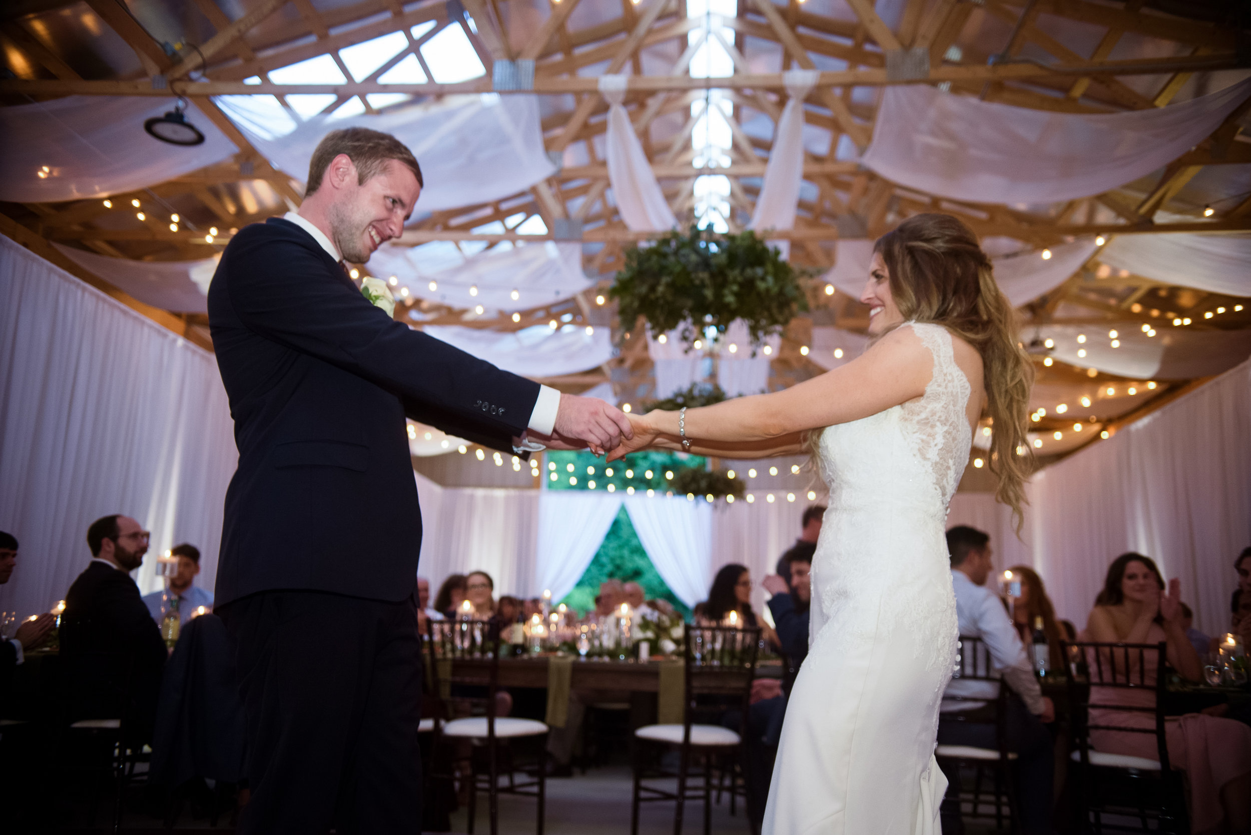 Bride and groom share first dance at Pittsburgh wedding planned by Exhale Events. Find more wedding inspiration at exhale-events.com!
