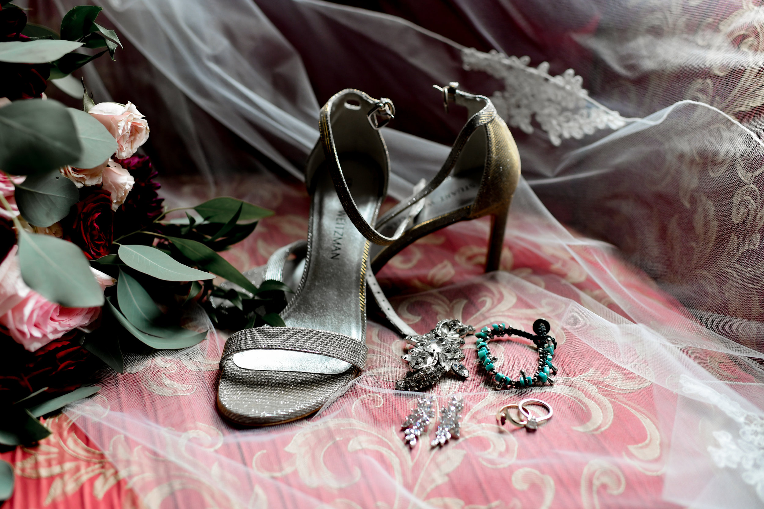 Bride's wedding shoes and accessories for Buffalo, NY wedding planned by Exhale Events. Find more wedding inspiration at exhale-events.com!
