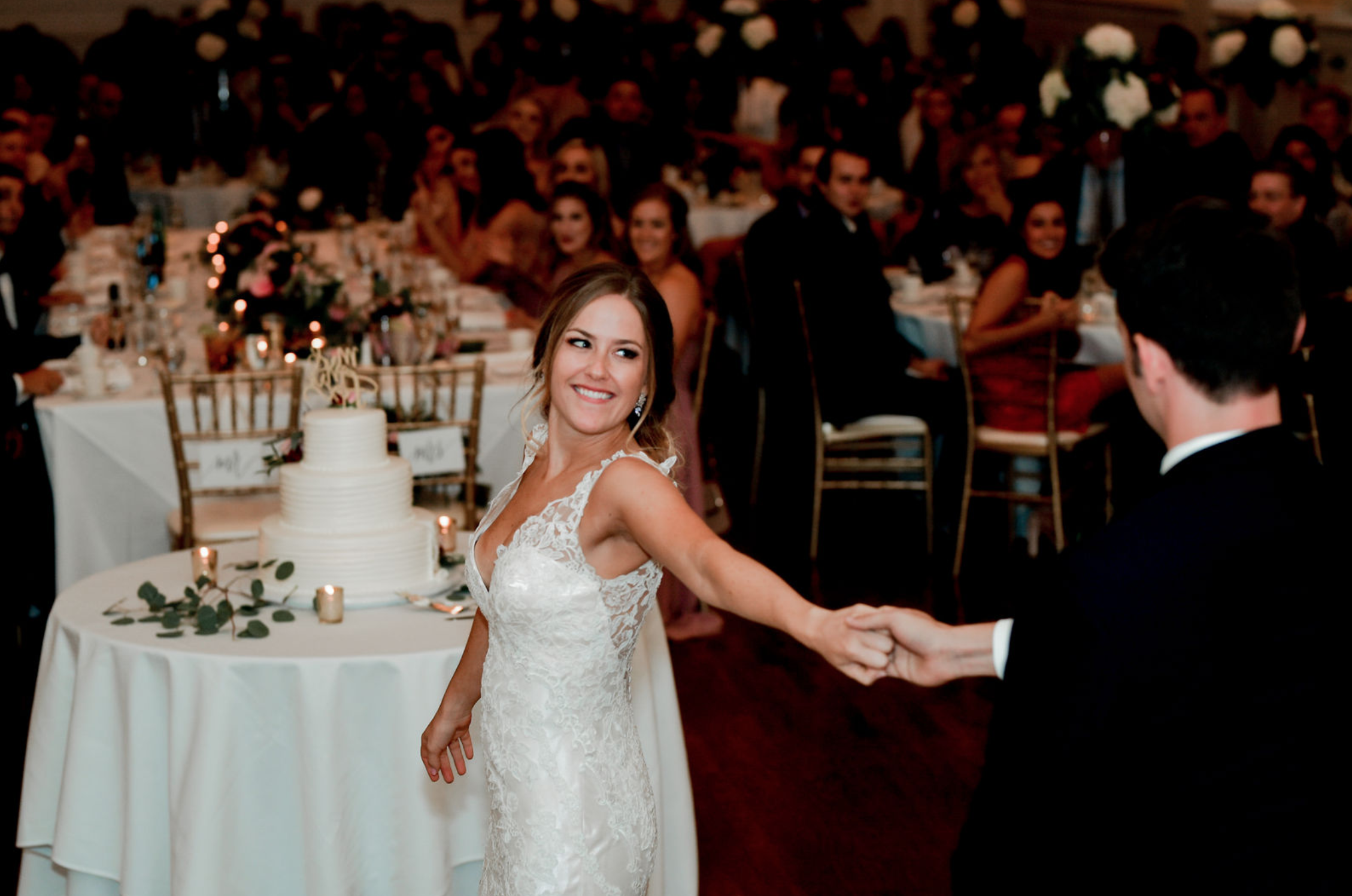 Bride and groom share first dance at Buffalo, NY wedding planned by Exhale Events. Find more wedding inspiration at exhale-events.com!