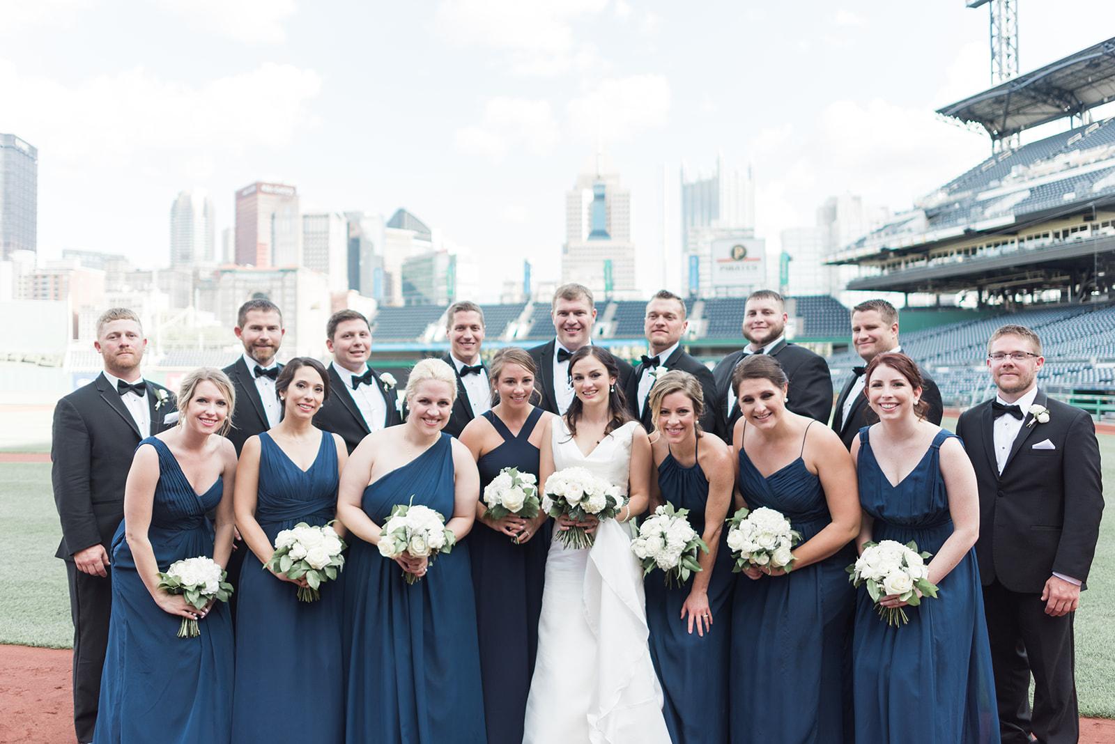 PNC Park Wedding Bridesmaids and Groomsmen