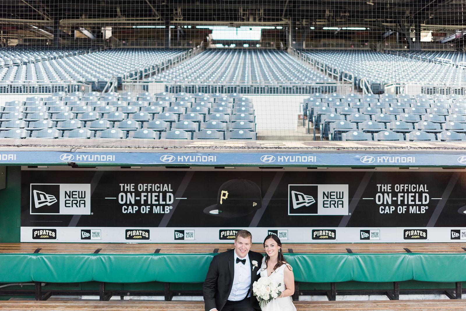 PNC Park Wedding at the stadium