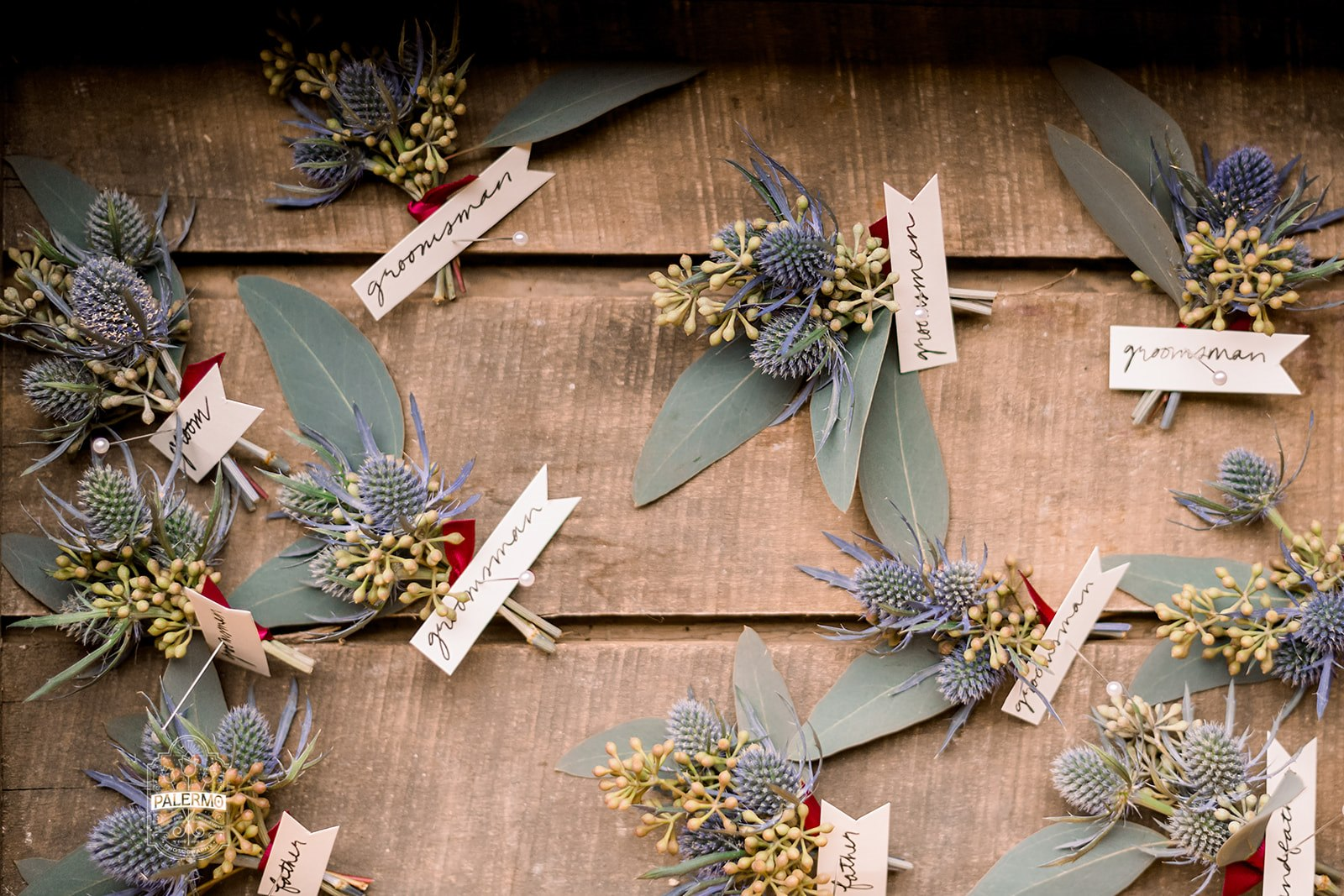 Wedding boutonnieres for fall barn wedding in Pittsburgh, PA planned by Exhale Events. Find more wedding inspiration at exhale-events.com!