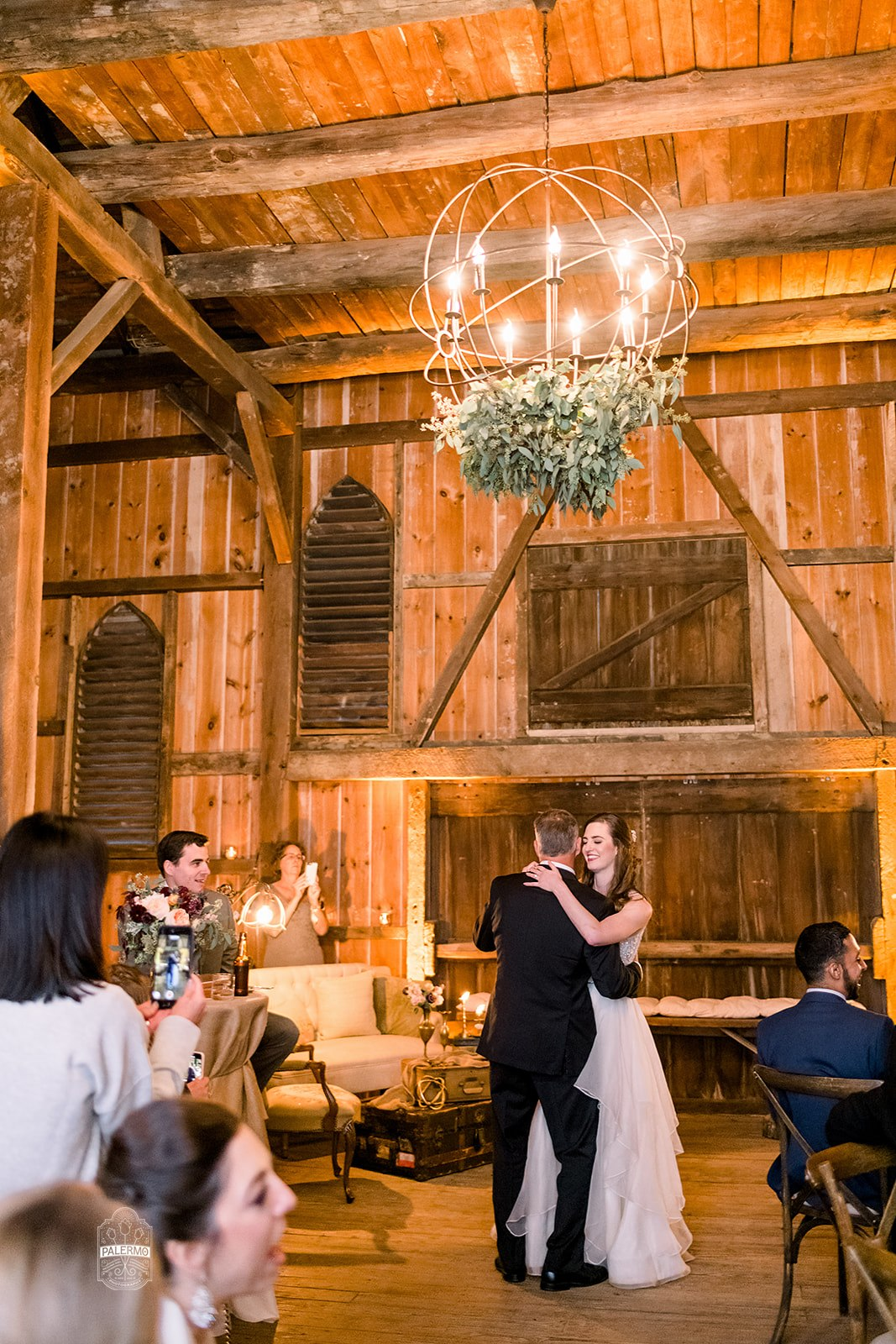 Father/daughter dance for fall barn wedding in Pittsburgh, PA planned by Exhale Events. Find more wedding inspiration at exhale-events.com!