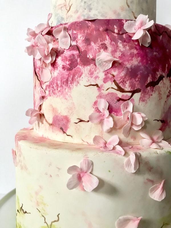cherry-blossom-cake-for-wedding