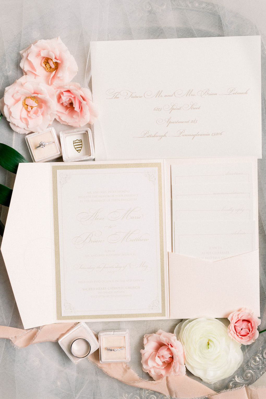 Wedding Invitations & Stationery: Romantic Fairytale wedding at the Omni William Penn in Pittsburgh, PA planned by Exhale Events. Find more wedding inspiration at exhale-events.com!