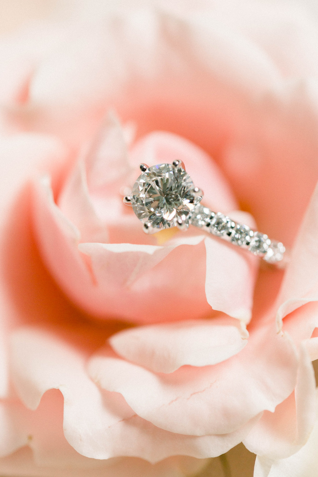 Engagement ring: Romantic Fairytale wedding at the Omni William Penn in Pittsburgh, PA planned by Exhale Events. Find more wedding inspiration at exhale-events.com!