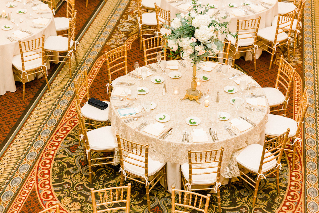 Wedding reception decor: Romantic Fairytale wedding at the Omni William Penn in Pittsburgh, PA planned by Exhale Events. Find more wedding inspiration at exhale-events.com!