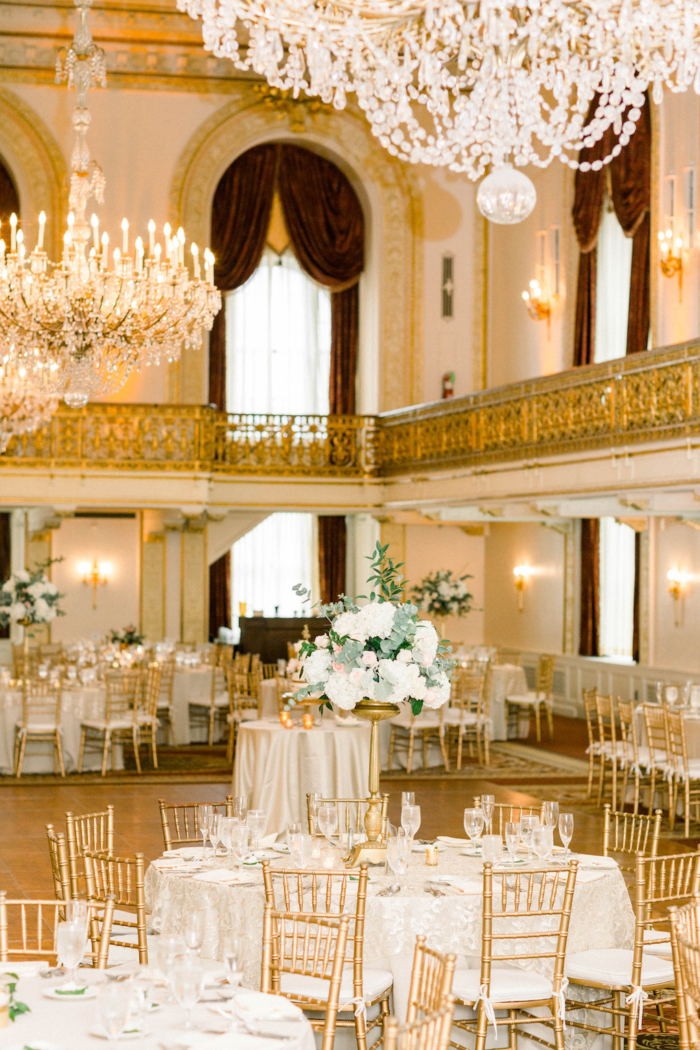 Ballroom wedding inspiration: Romantic Fairytale wedding at the Omni William Penn in Pittsburgh, PA planned by Exhale Events. Find more wedding inspiration at exhale-events.com!
