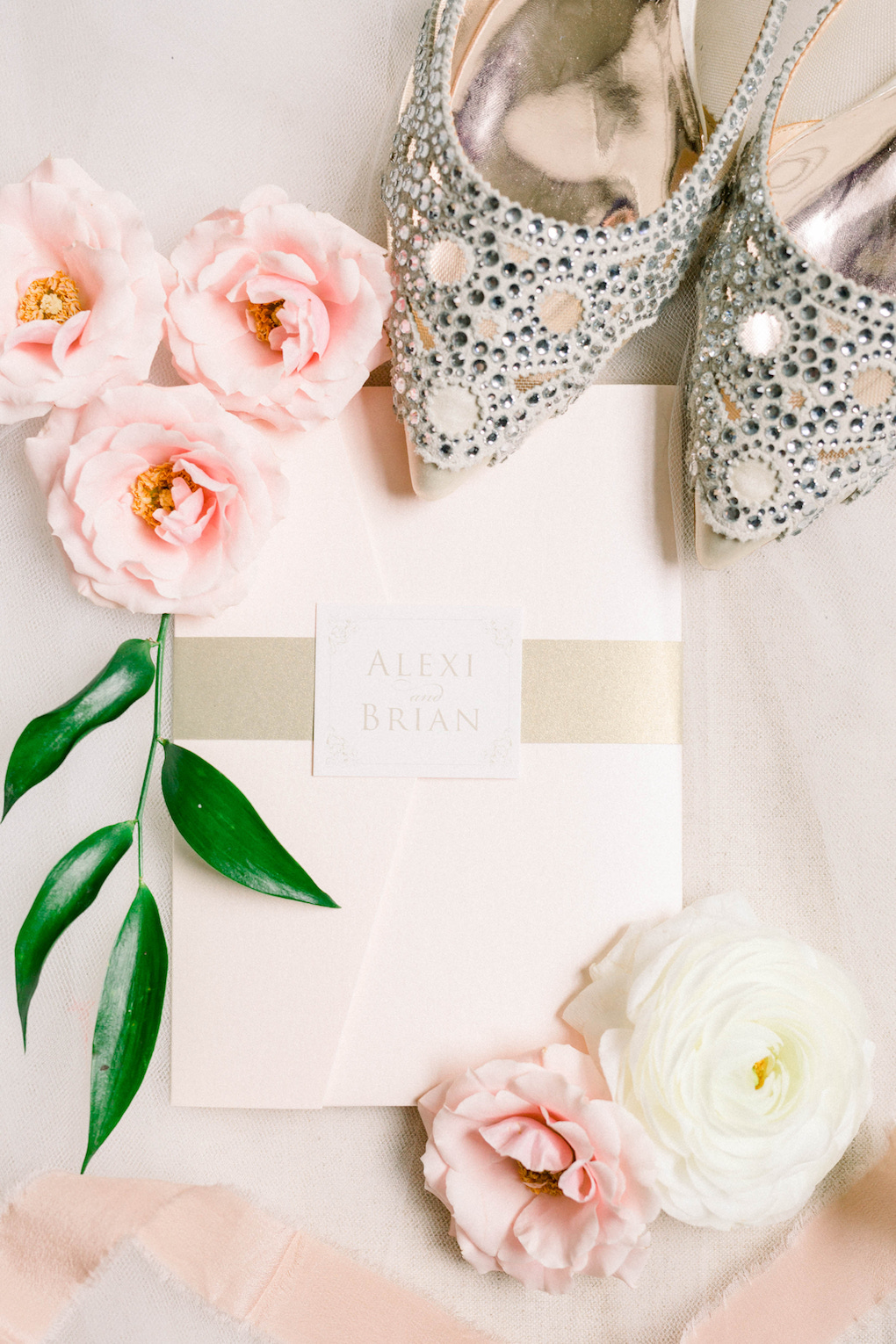 Embellished wedding shoes: Romantic Fairytale wedding at the Omni William Penn in Pittsburgh, PA planned by Exhale Events. Find more wedding inspiration at exhale-events.com!