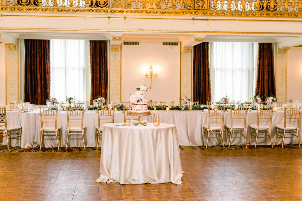 Bridal party table: Romantic Fairytale wedding at the Omni William Penn in Pittsburgh, PA planned by Exhale Events. Find more wedding inspiration at exhale-events.com!