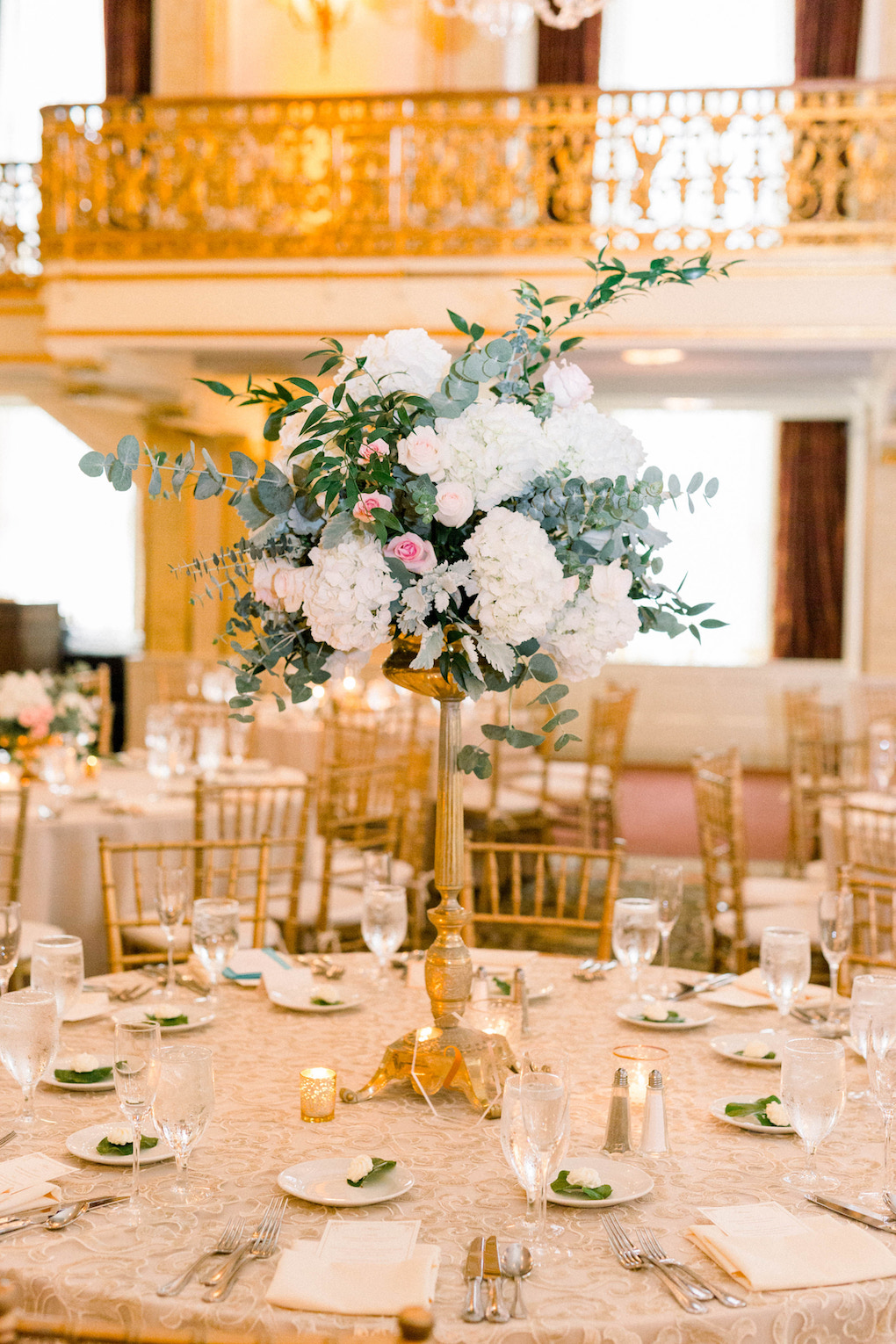 Wedding table decor: Romantic Fairytale wedding at the Omni William Penn in Pittsburgh, PA planned by Exhale Events. Find more wedding inspiration at exhale-events.com!
