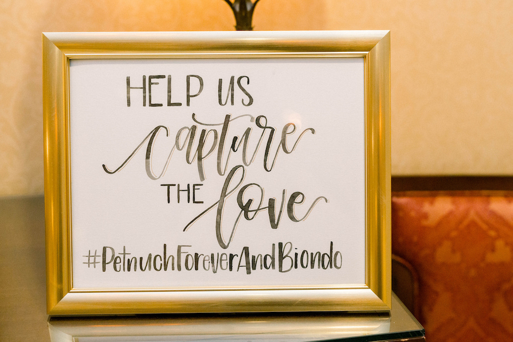Wedding sign: Romantic Fairytale wedding at the Omni William Penn in Pittsburgh, PA planned by Exhale Events. Find more wedding inspiration at exhale-events.com!