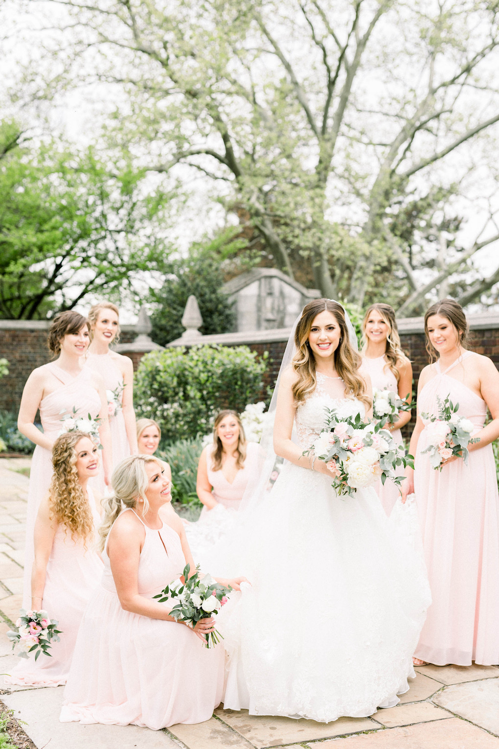 Bridal party photos: Romantic Fairytale wedding at the Omni William Penn in Pittsburgh, PA planned by Exhale Events. Find more wedding inspiration at exhale-events.com!