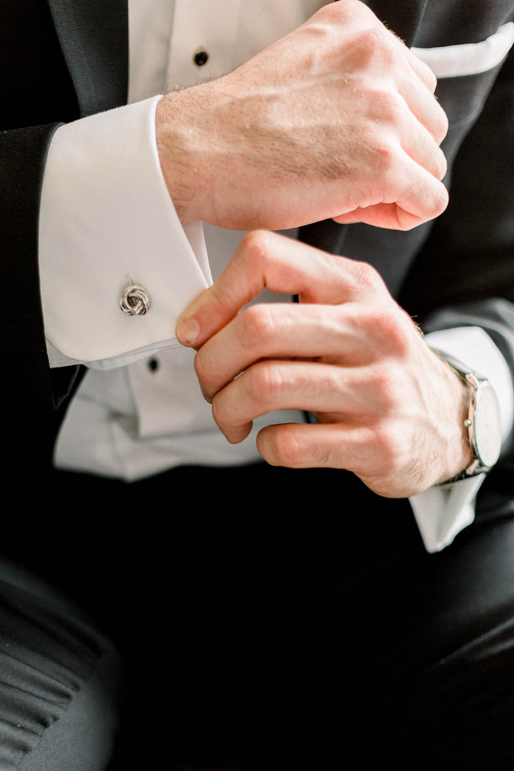 Grooms cufflinks: Romantic Fairytale wedding at the Omni William Penn in Pittsburgh, PA planned by Exhale Events. Find more wedding inspiration at exhale-events.com!