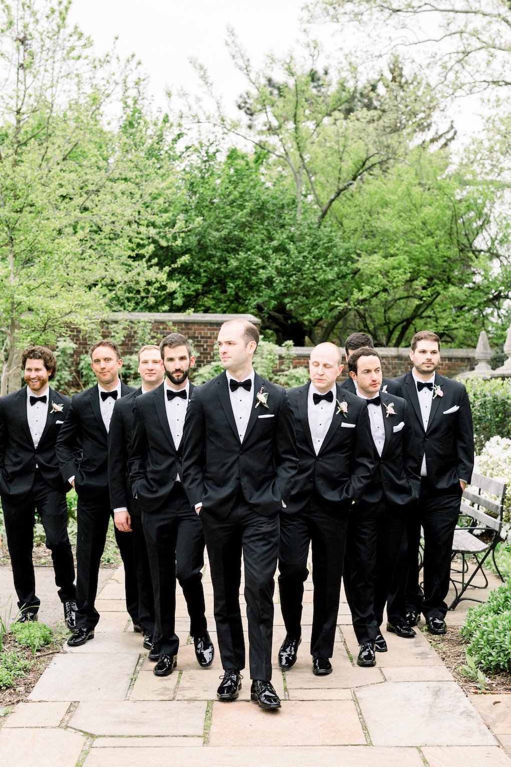 Grooms and groomsmen: Romantic Fairytale wedding at the Omni William Penn in Pittsburgh, PA planned by Exhale Events. Find more wedding inspiration at exhale-events.com!
