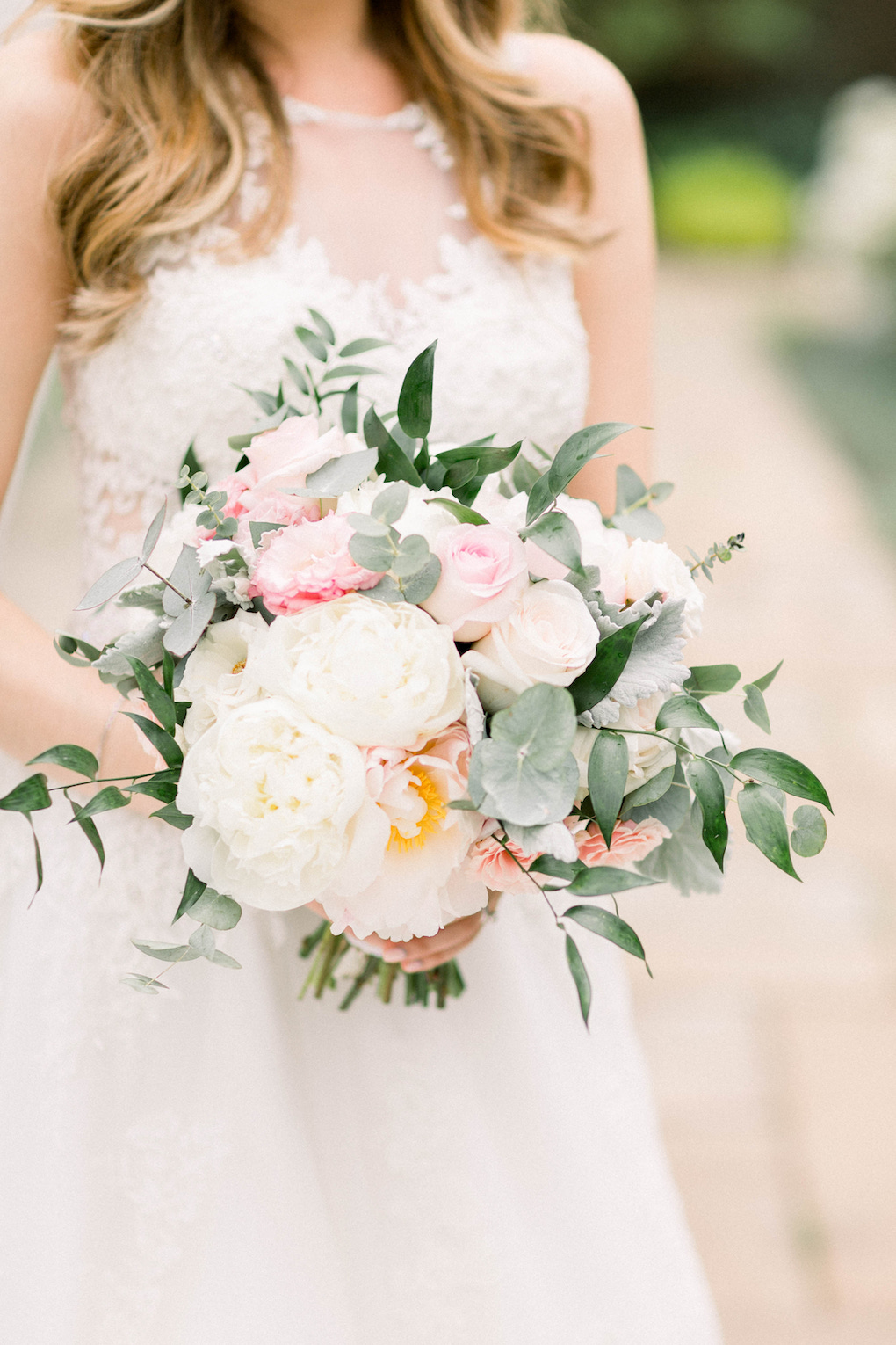 Pink and white bridal bouquet: Romantic Fairytale wedding at the Omni William Penn in Pittsburgh, PA planned by Exhale Events. Find more wedding inspiration at exhale-events.com!