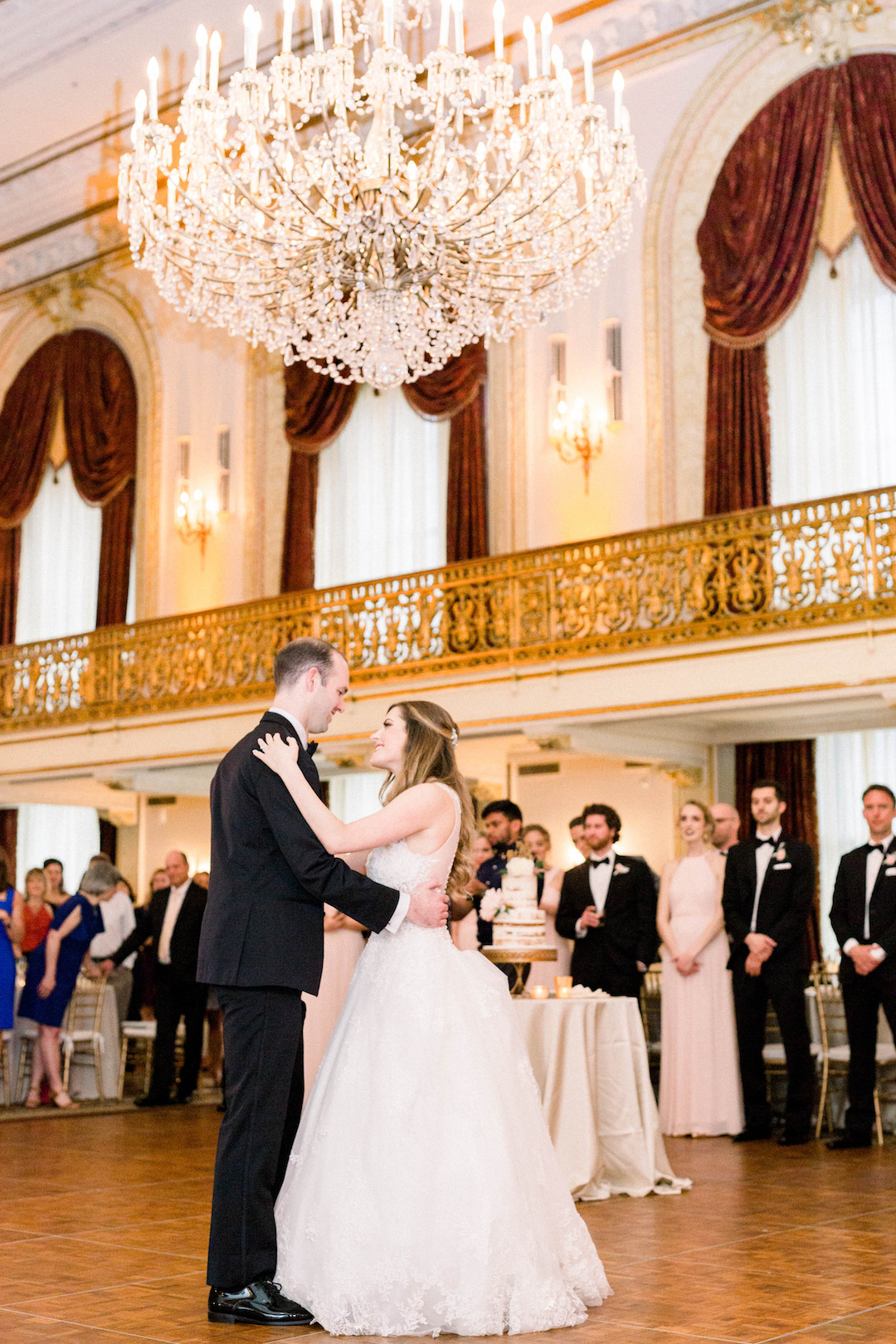 Bride and groom's first dance: Romantic Fairytale wedding at the Omni William Penn in Pittsburgh, PA planned by Exhale Events. Find more wedding inspiration at exhale-events.com!