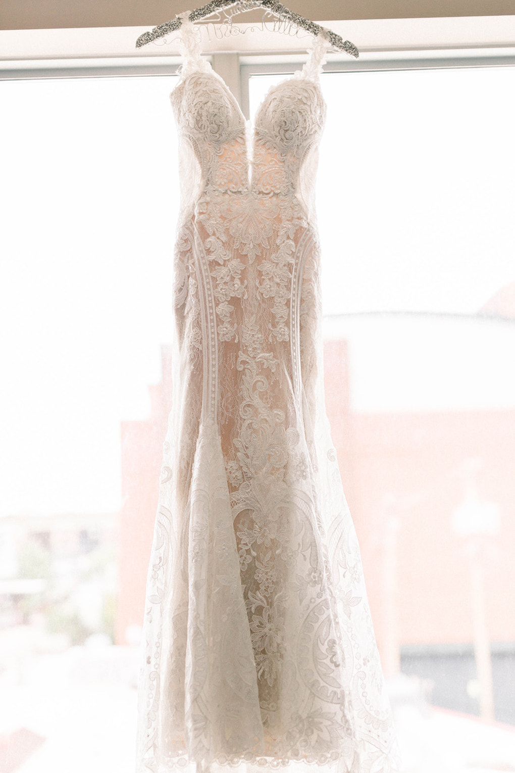 Fit and Flare wedding dress: Pittsburgh Botanic Garden wedding planned by Exhale Events. See more wedding inspiration at exhale-events.com!