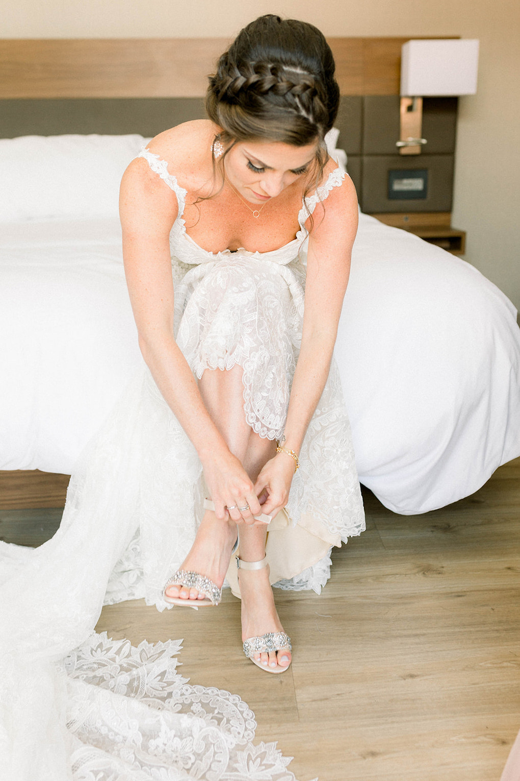 Bride getting ready shot: Pittsburgh Botanic Garden wedding planned by Exhale Events. See more wedding inspiration at exhale-events.com!