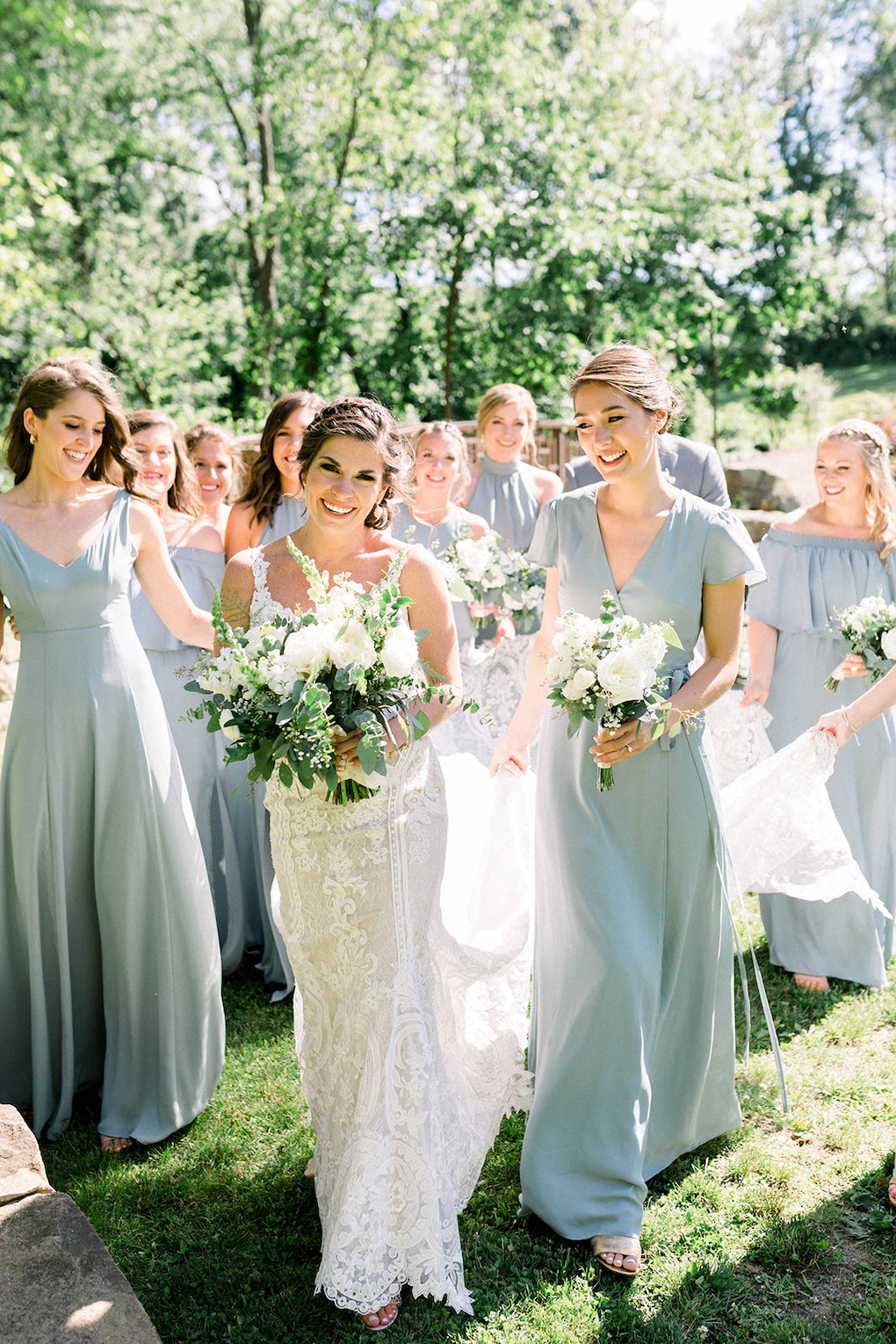 Fun bridal party photos: Pittsburgh Botanic Garden wedding planned by Exhale Events. See more wedding inspiration at exhale-events.com!