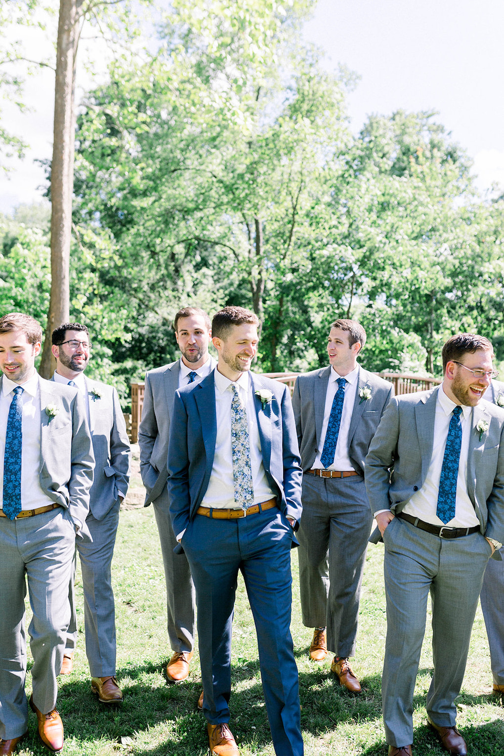 Modern groomsmen photos: Pittsburgh Botanic Garden wedding planned by Exhale Events. See more wedding inspiration at exhale-events.com!