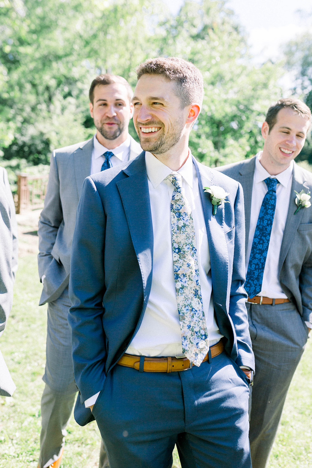 Floral Tie for Groom: Pittsburgh Botanic Garden wedding planned by Exhale Events. See more wedding inspiration at exhale-events.com!