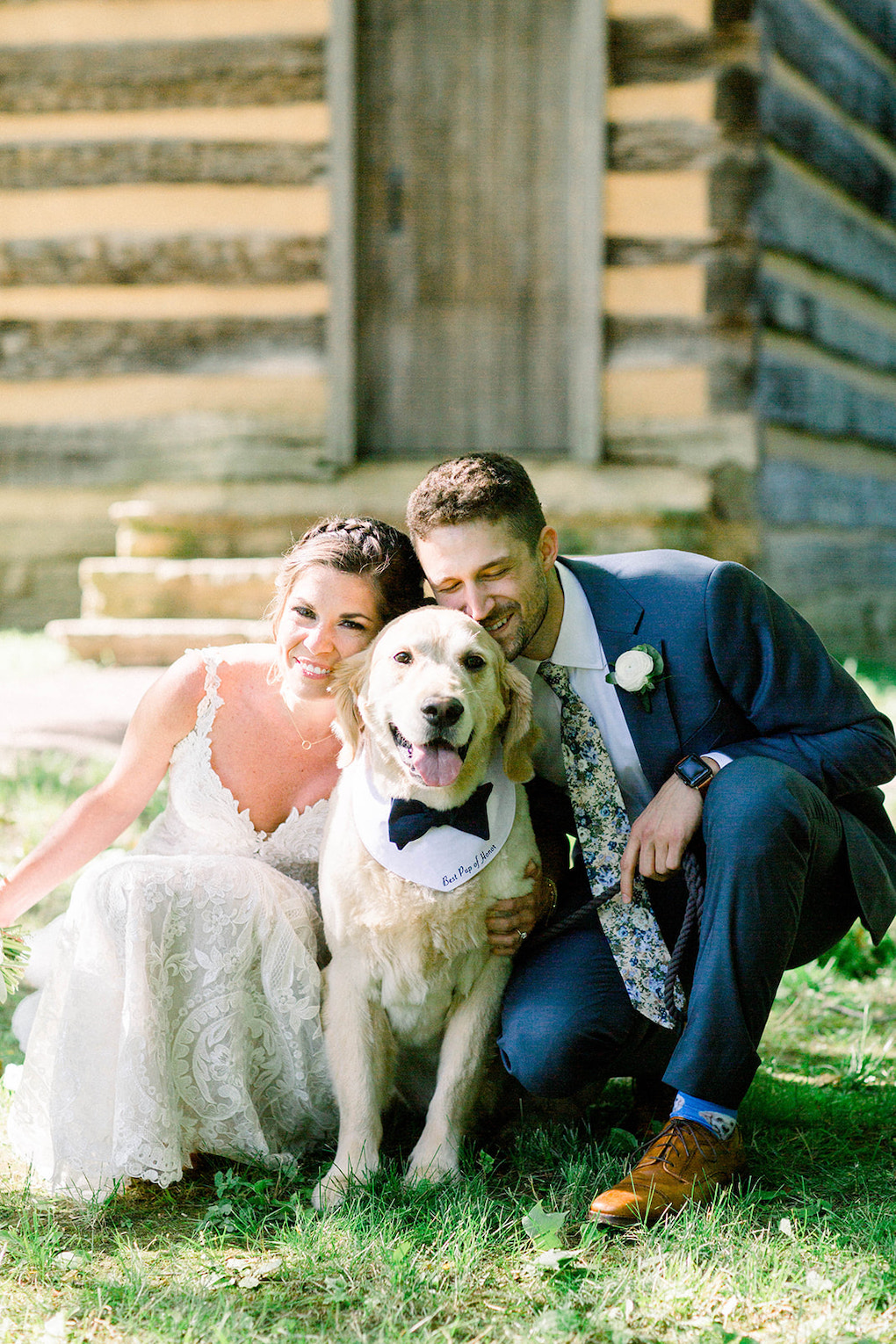 Including Your Dog In Your Wedding Day: Pittsburgh Botanic Garden wedding planned by Exhale Events. See more wedding inspiration at exhale-events.com!