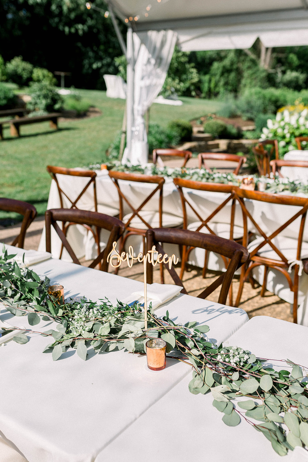 Simple Greenery Wedding Decor: Pittsburgh Botanic Garden wedding planned by Exhale Events. See more wedding inspiration at exhale-events.com!