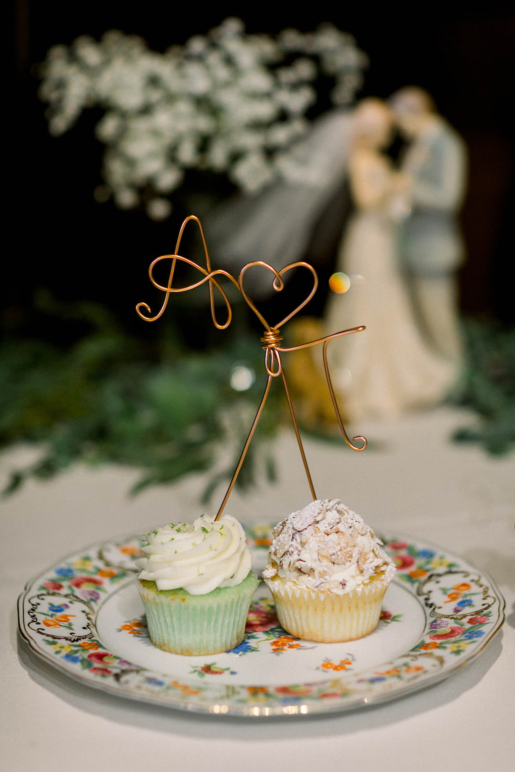 His and hers wedding cupcakes: Pittsburgh Botanic Garden wedding planned by Exhale Events. See more wedding inspiration at exhale-events.com!