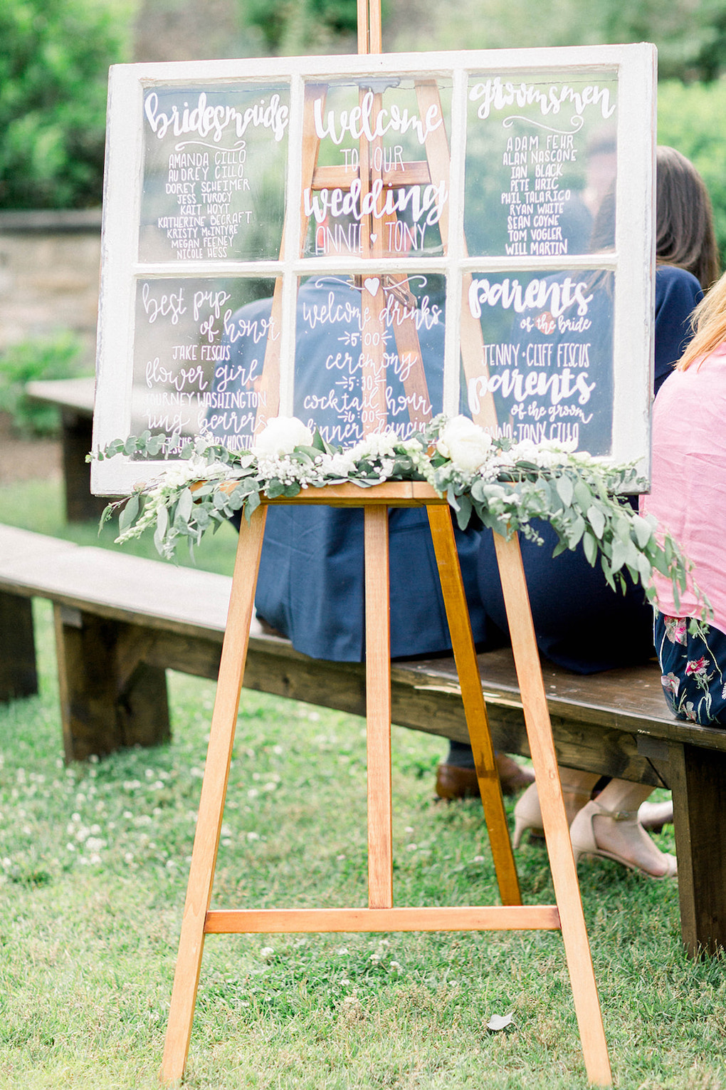 Alternative to paper ceremony wedding programs: Pittsburgh Botanic Garden wedding planned by Exhale Events. See more wedding inspiration at exhale-events.com!