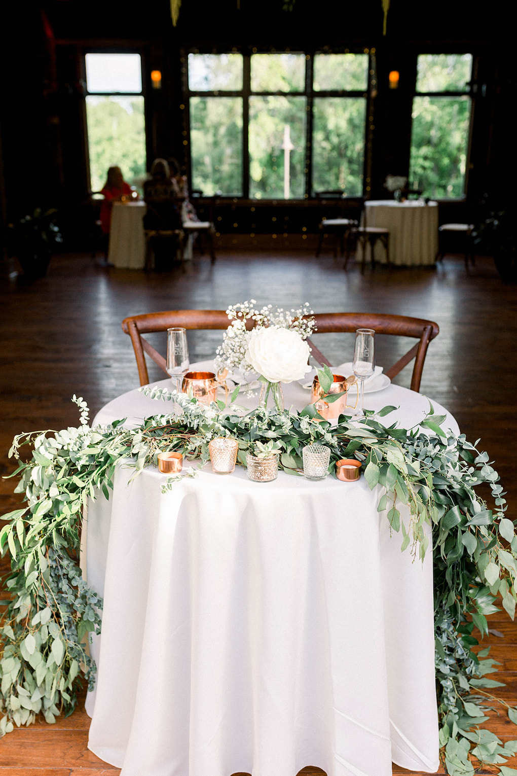 Garden sweetheart table ideas: Pittsburgh Botanic Garden wedding planned by Exhale Events. See more wedding inspiration at exhale-events.com!