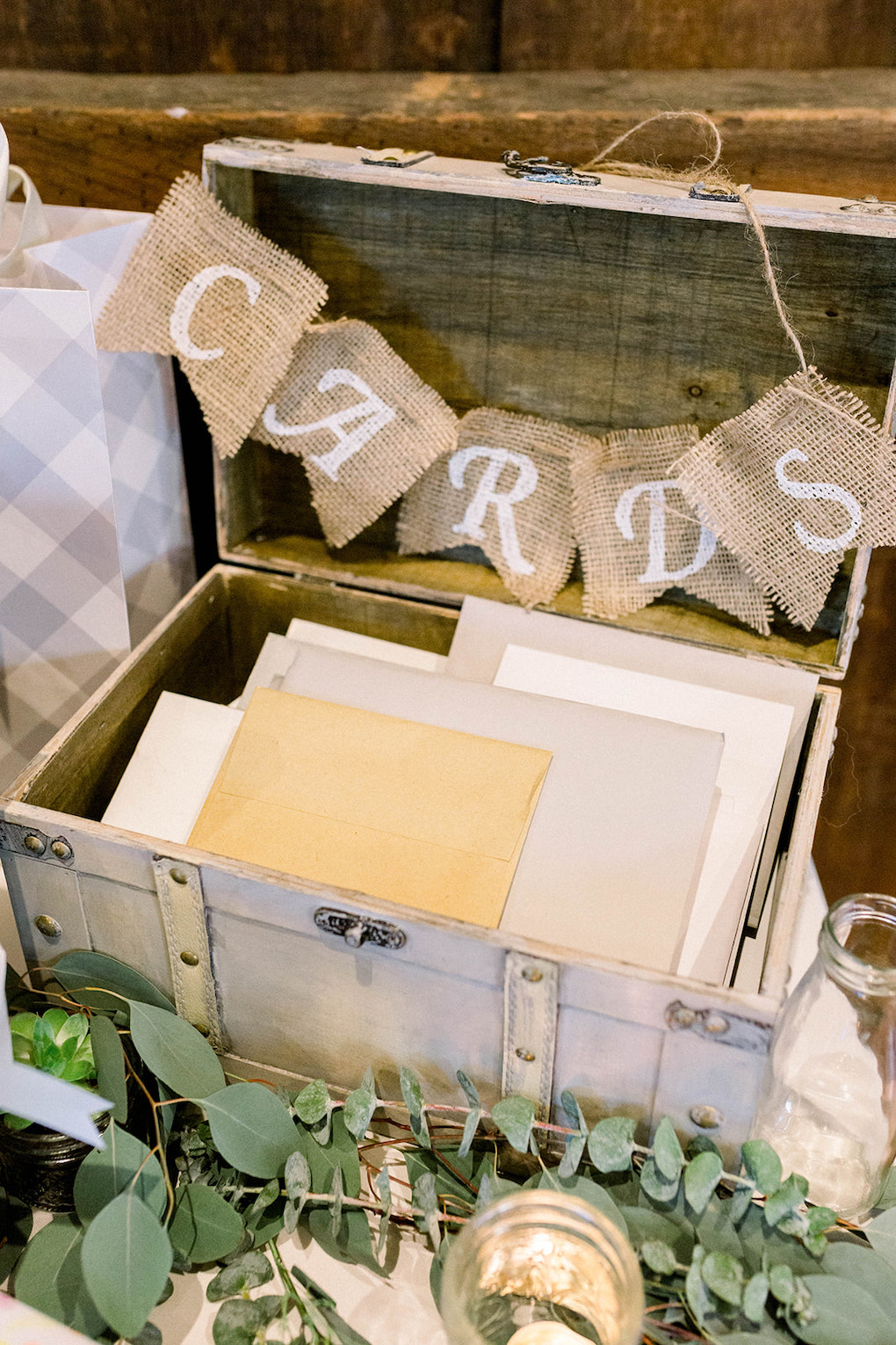 Vintage Card Box Inspiration: Pittsburgh Botanic Garden wedding planned by Exhale Events. See more wedding inspiration at exhale-events.com!