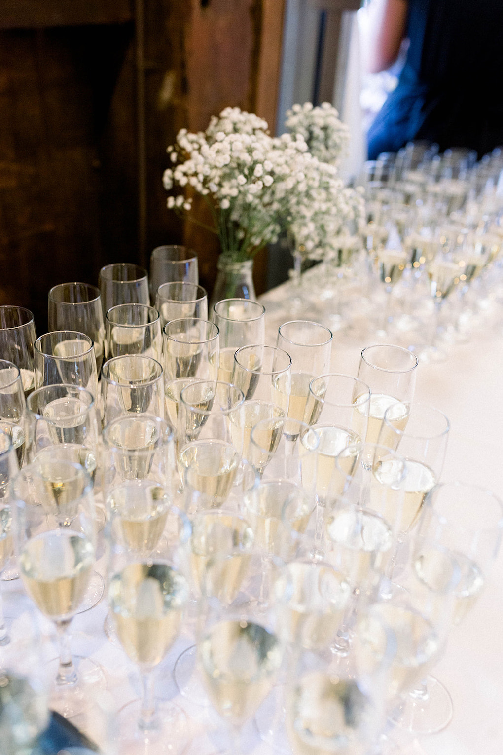 Champagne toast displays: Pittsburgh Botanic Garden wedding planned by Exhale Events. See more wedding inspiration at exhale-events.com!
