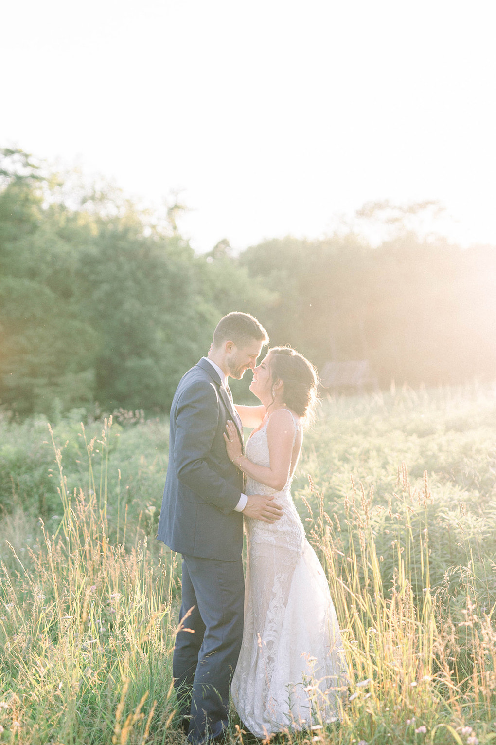 Sunset wedding photos:Pittsburgh Botanic Garden wedding planned by Exhale Events. See more wedding inspiration at exhale-events.com!