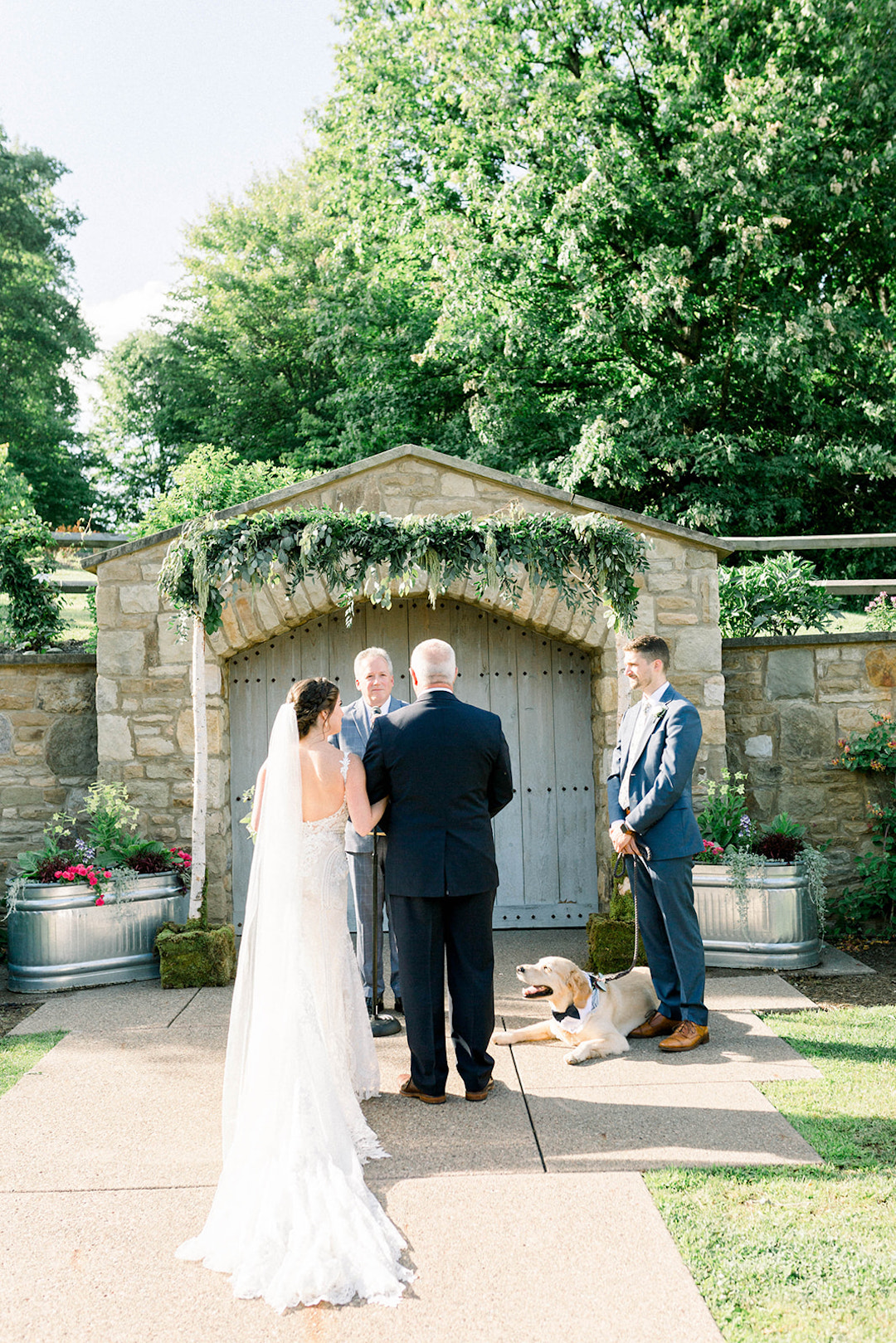 Outdoor garden wedding inspiration: Sunset wedding photos:Pittsburgh Botanic Garden wedding planned by Exhale Events. See more wedding inspiration at exhale-events.com!