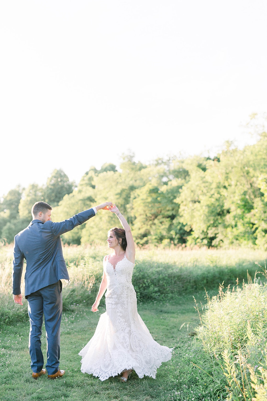 Golden Hour Wedding Photos: Pittsburgh Botanic Garden wedding planned by Exhale Events. See more wedding inspiration at exhale-events.com!